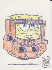 Sponge Bob MODOK by Jacob Chabot