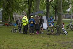 WNBR Edinburgh 2011 (Beaches and Mountains) Tags: world uk wet rain bicycle scotland edinburgh protest meadows police bodypaint lothian soaked worldnakedbikeride wnbr worldnakedbikerideedinburgh