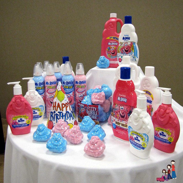 A variety of Mr Bubble products