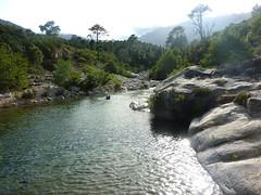 Vasque d'arrivée de la descente du ruisseau de Sainte-Lucie en balade aquatique