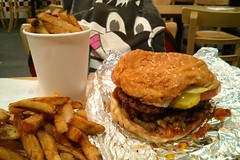 Burger with everything and fries (Morton Fox) Tags: 15fav food nj riogrande fiveguys