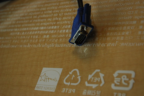 Energy star - PETE, PET, languages, 15 pin jack, technology image, Bellevue, Washington, USA by Wonderlane