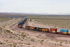 East West Meet @ Ludlow (K-Szok-Photography) Tags: california outdoors desert trains ludlow