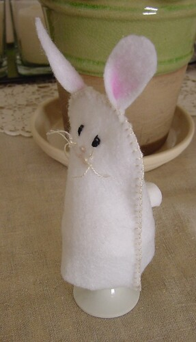 Bunny Egg Warmer, side view