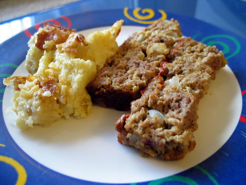 """Irish"" meatloaf and holiday potatoes"