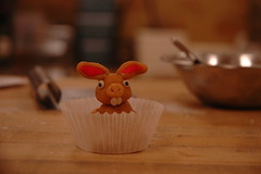 Happy Eastern or a hard day at work (Blickdicht) Tags: rabbit bunny marzipan eastern almondpaste