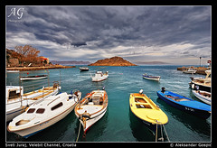 Dark days in Paradise (TranceVelebit) Tags: sea cloud boats boat croatia more adriatic hrvatska jadran barka oblaci bura barke svetijuraj velebitchannel kurabura jurjevo