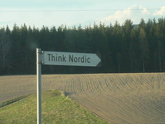 Think Nordic (Bagatell) Tags: sign norway norge think nordic
