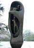 02 Large upright internal & external form3, 1981-2 (chericbaker) Tags: sculpture kewgardens snow kew moore henrymoore mooreatkew