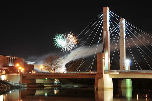 Lane Avenue Bridge Fireworks