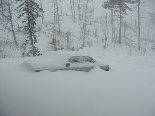 My poor, buried car!