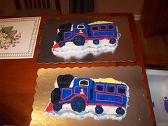 Train Cakes Made By Erin (mmellander) Tags: birthday party twins 2nd