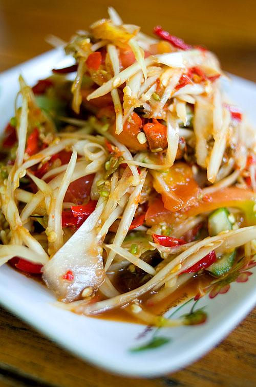 Lao-style papaya salad, Crokmai Thai Lao