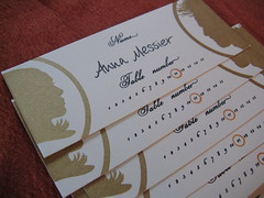 Molly's escort cards (Heatherjeany) Tags: wedding gocco invitation placecard escortcard heatherjeany