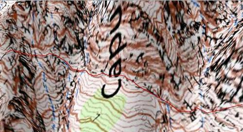 Vire du Tafunatu en carte Géoportail