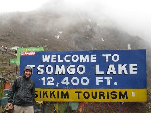 Tsomgo Lake - Elev. 12,400 feet