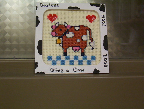Give a Cow Needlepoint