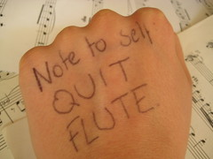Day 32. Note to self: QUIT FLUTE. (freyahh) Tags: music macro body failure flute instrument biro givingup resultofexam