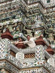 Saludando desde Wat Arun