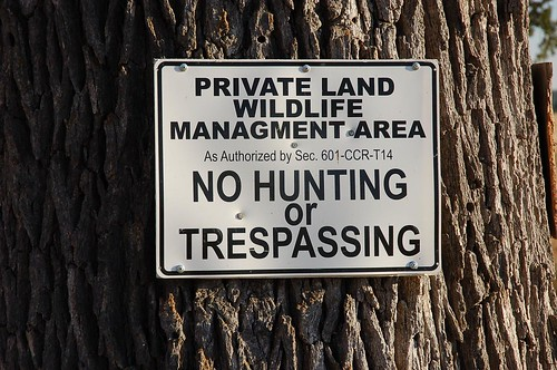 no poaching signs