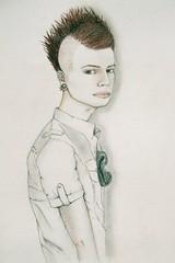 (Rachel Hardwick (rachelhardwick.4ormat.com)) Tags: boy male fashion shirt pencil paper sketch model drawing mohawk mohican