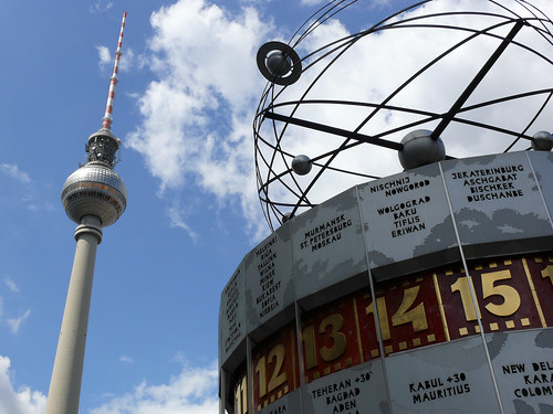Clock on Alexanderplatz