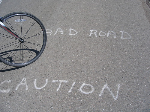 Caution Bad Road