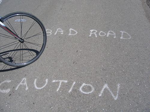 Caution Bad Road