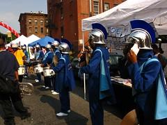 Cake Man Celebration Ft. Green Brooklyn - 12 (b'klynborn) Tags: red man green cake brooklyn drum fort battle parade velet