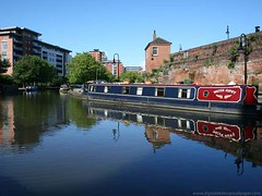 Canal Boat - Castlefield, Manchester (Digital Wallpapers) Tags: uk wallpaper water river manchester photography boat canal boating barge castlefield manchestershipcanal desktopwallpapers pcbackground