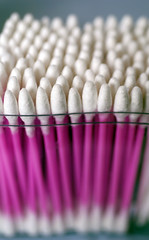 Swab Supplies (incurable_hippie) Tags: detail macro closeup purple many makeup medical pack pile ear rod cosmetics wad cottonbuds sterile qtip firstaid cottonwool cottonswab applicator