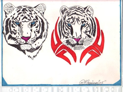 white tiger tattoo. white tiger tattoos