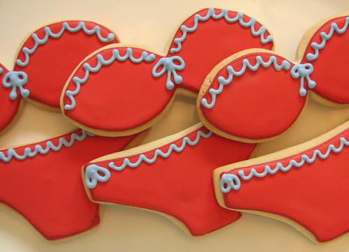 Red Bikini Sugar Cookies