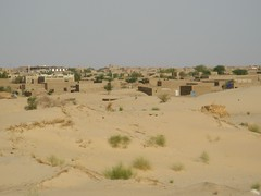 Timbuktu from the desert (Tim Little) Tags: trip travel desert journey mali timbuktu timbuctou timbuktoo
