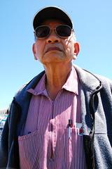 My Hero (Michael Alexander Chin) Tags: hat sunglasses dragon chinese grandpa elder pens fleece geriatric