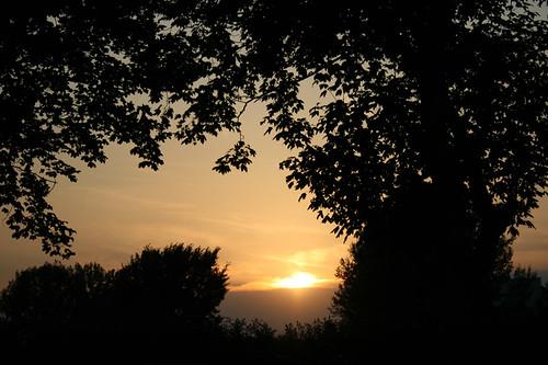 Sonnenuntergang Ende August 01