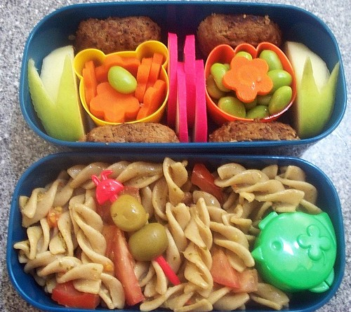 Pesto Pasta Salad Bento (recipe included)