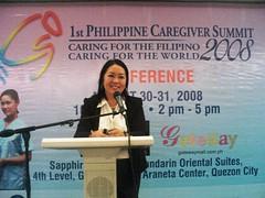 Ms. Emms San Juan opens final day of Conference (zdadivas) Tags: expo conference mandarinoriental jobfair gatewaymall caregiver 1stpcs eliteconsultancy