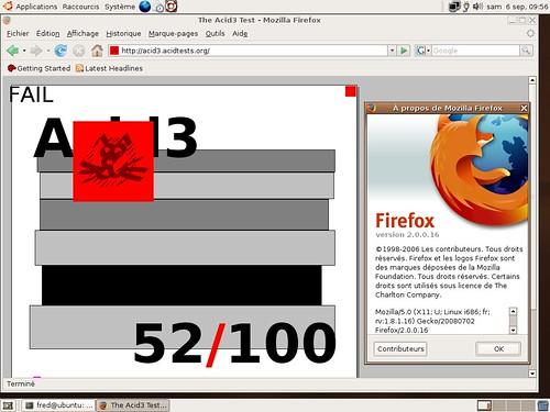 Firefox 2.0.0.16 et Acid3