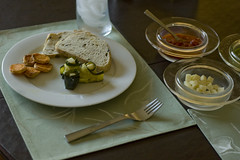 Zucchini, Sweet Potatoes, and Olive Bread