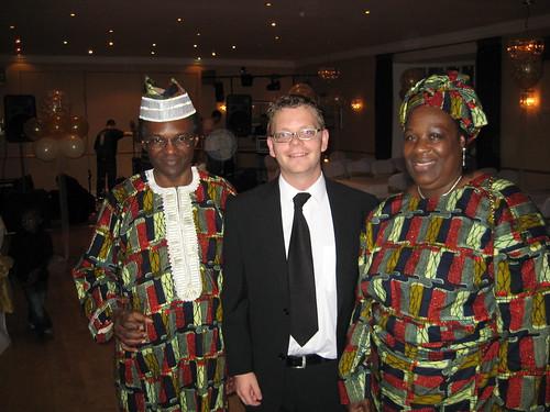 Mr. and Mrs. Oshagbemi and me