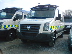 (20) GMP VW Crafter (Call the Cops 999) Tags: uk england emergency service services vehicle vehicles 999 112 101 gmp greater manchester police vw volkswagen crafter van openshaw central workshops complex 22 april 2008 led chevron riot shield cage fighting crime protecting people
