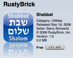 Shabbos iPhone App Live