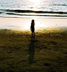 staring at the sun (spo0nman) Tags: travel sea india film girl crossprocessed nikon goa ct ishootfilm f80 agfa precisa xprobeach