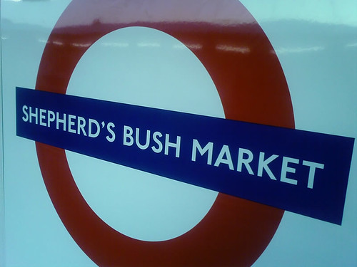 Shepherd's Bush Market Tube Station Signage by Caleb