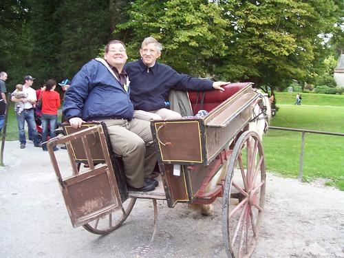 Ireland - Killarney National Park - Bob and David in jaunting car
