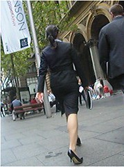 skirt15 (satinsis) Tags: highheels pantyhose businesswoman skirtsuit