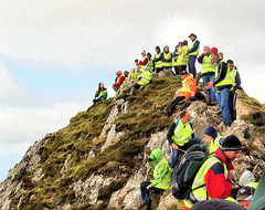 A little crowded at the summit of Errigal