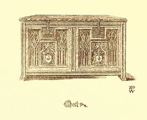 22- Muebles estilo gotico S. XV- Arcón