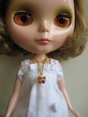 Skye models Butterfly Necklace
